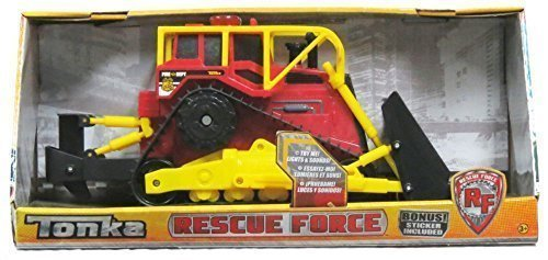 Tonka Rescue Force Fire Dept Bulldozer Lights - Sound by Tonka