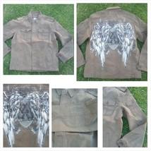 Vintage style Brown long sleeve jacket Brown military inspired jacket S-2X - $32.99