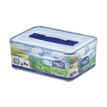 Lock&Lock 159-Fluid Ounce Rectangular Container with Handle and Tray, Tall, 1... - $54.37