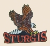 12 Pins - STURGIS w/ EAGLE , hat lapel pin sp182