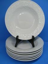"Tabletops Unlimited Battenburg Lace 9"" Rimmed Soup Salad Bowl Set Of 7 Bowls EUC - $77.42"