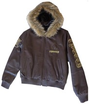 Excelled Girls Looney Tunes Tweety Leather Jacket (XS, Brown) - $98.95