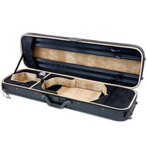 SKY Violin Oblong Case Solid Wood Imitation Leather with Hygrometers Bla... - $136.61
