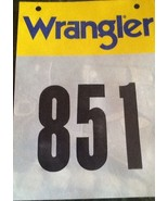 Wrangler Rodeo Butt Contestant Back Number Western Decor Entry 11 x 8 Inch - $12.99