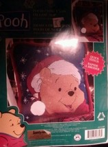 Janlynn Disney Winnie The Pooh Christmas Pillow Top Counted Cross Stitch Kit New - $18.69