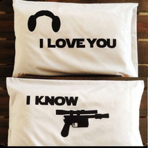 Star Wars I Love You I Know White Pillowcases - $22.76