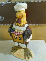 Decorative Chef Rooster manual Day Calender Rem... - $25.00