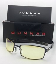 New GUNNAR Computer Glasses PPK 57-20 Gloss Onyx Black Frame w/Amber Yellow Lens