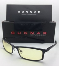 New GUNNAR Computer Glasses PHENOM 55-18 134 Onyx Black Frame w/ Amber Y... - $99.95