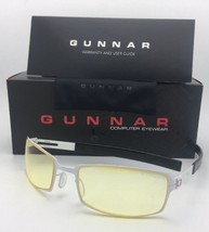 New GUNNAR Computer Glasses PPK 57-20 Snow White & Black Frame w/ Amber ... - $79.95