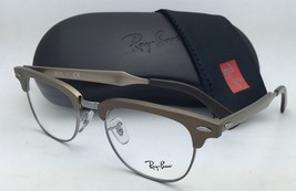 RAY-BAN CLUBMASTER Rx-able Eyeglasses RB 6295 2807 51-21 Brushed Bronze Frames