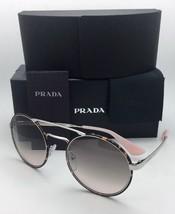 New PRADA Sunglasses SPR 51S 2AU-4K0 54-22 Silver & Tortoise w/Grey Fade to Pink
