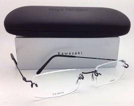 New KAZUO KAWASAKI Eyeglasses MP 631 19 C012/54 Rimless Titanium Black Frames
