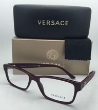 New VERSACE Eyeglasses 3198 5105 55-17 Bordeaux Rectangular Frames w/Demo Lenses