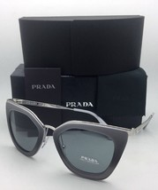 New PRADA Sunglasses SPR 53S UFV-3C2 52-21 Grey Gradient & Silver Frame w/ Grey