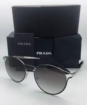 New PRADA Sunglasses SPR 62S 1AB-0A7 53-19 Black & Silver Frame w/ Grey Gradient