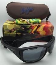 Polarized MAUI JIM Sunglasses MJ 410-2M WATERMAN Black Frame w/Neutral Grey Lens