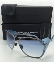 Titanium PORSCHE DESIGN Sunglasses P'8600 C Drk Silver Frame w/Blue Fade+Shields