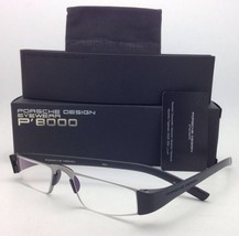 New Reader! PORSCHE DESIGN Eyeglasses P'8801 A 48-20 +1.50 Silver Black Readers