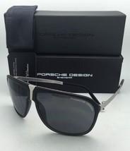 New PORSCHE DESIGN Sunglasses P'8618 A P'86BF U Grey & Palladium Frames w/ Grey