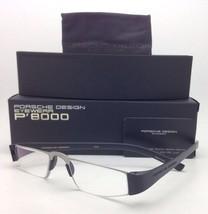 New Reader! PORSCHE DESIGN Eyeglasses P'8801 A 48-20 +2.50 Silver Black Readers