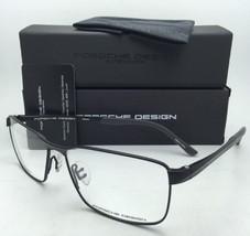 New PORSCHE DESIGN Titanium Eyeglasses P'8273 A 58-15 145 Matte Black Frames