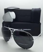 PORSCHE DESIGN Titanium Aviator Sunglasses P'8478 P 69-10 White w/ 2 Lens Sets