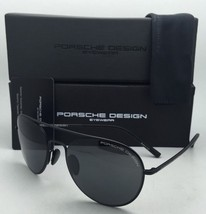 New PORSCHE DESIGN Titanium Aviator Sunglasses P'8606 C 54-19 Black Frame w/Grey