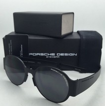 Folding PORSCHE DESIGN Titanium Sunglasses P'8592 B Matte Black Frames Grey Lens