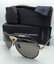 New PORSCHE DESIGN Titanium Sunglasses P'8678 C 67-11 Gold Frame w/ 2 Lens Sets