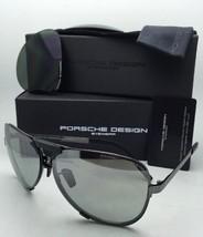 New PORSCHE DESIGN Titanium Sunglasses P'8678 A 67-11 Black Frame w/ 2 Lens Sets