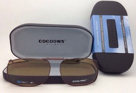 COCOONS Amber Polarized Sunglasses/Eyeglasses Over Rx Clip-on REC 1-51 Bronze