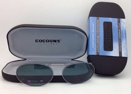 COCOONS Grey Polarized Sunglasses/Eyeglasses Over Rx Clip-on OVL 2-48 Gunmetal