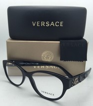 New VERSACE Rx-able Eyeglasses 3195 GB1 54-17 140 Black Frames w/ Clear Lenses