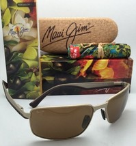 Polarized Maui Jim Sunglasses Backswing Mj 709-16A Matte Gold Frame w/HCL Bronze - $349.95
