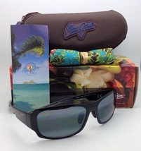 New Polarized Maui Jim Sunglasses MJ 415-02J BAMBOO FOREST Black Gloss w/ Grey - $219.95