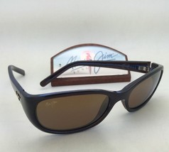 Polarized Maui Jim Sunglasses Kuiaha Bay Mj 286-26C Rootbeer Blue Frame w/Bronze - $239.95