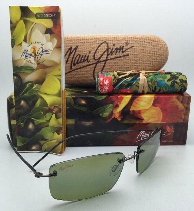 7c2f151a84 S l1600. S l1600. Rimless MAUI JIM Sunglasses SANDHILL MJ 715-02D Drk Gunmetal  w Polarized Maui HT. Rimless ...