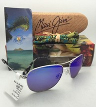 Polarized MAUI JIM Titanium Sunglasses CLIFF HOUSE 247-17 Silver w/ Blue Hawaii - $299.95