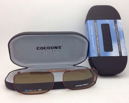 COCOONS Amber Polarized Sunglasses/Eyeglasses Over Rx Clip-on REC 15-50 ... - $49.95