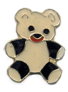 12 Pins - TEDDY BEAR , hat tac lapel pin #234