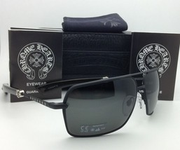 CHROME HEARTS Sunglasses SOPHISTAFUCKS 63-14 MBK-EBPV Black & Ebony Wood w/ Grey