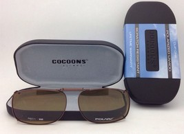 COCOONS Amber Polarized Sunglasses/Eyeglasses Over Rx Clip-on REC 1-52 Bronze