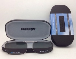 COCOONS Grey Polarized Sunglasses/Eyeglasses Over Rx Clip-on REC 15-50 Gunmetal