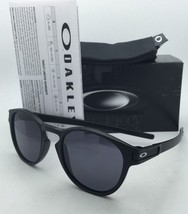 New Round OAKLEY Latch Sunglasses OO9265-01 Matte Black Frames with Grey Lenses