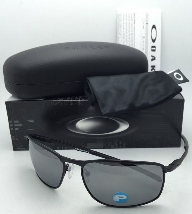 Polarized OAKLEY Sunglasses CONDUCTOR 8 OO4107-02 Matte Black w/ Black Iridium