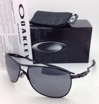 New OAKLEY Sunglasses CROSSHAIR OO4060-03 61-15 Matte Black w/Black Iridium lens