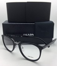 New PRADA RX-able Eyeglasses VPR 03T 1AB-1O1 52-22 145 Black & Silver Frame