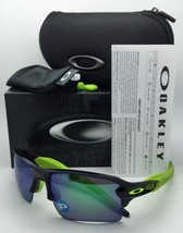 Polarized OAKLEY Sunglasses FLAK 2.0 XL OO9188-09 Black Ink Frame w/Jade Iridium