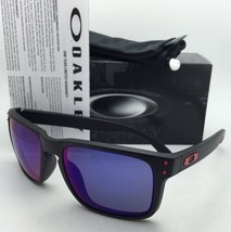 Authentic Oakley Sunglasses HOLBROOK OO9102-36 Matte Black w/Red Iridium  Lenses